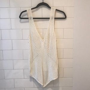 Helmut Lang white Knit Top size S